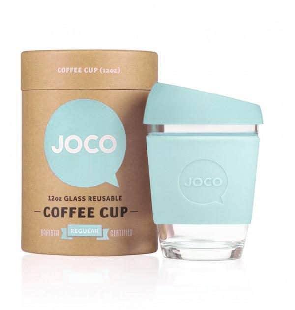 branded reusable cup present