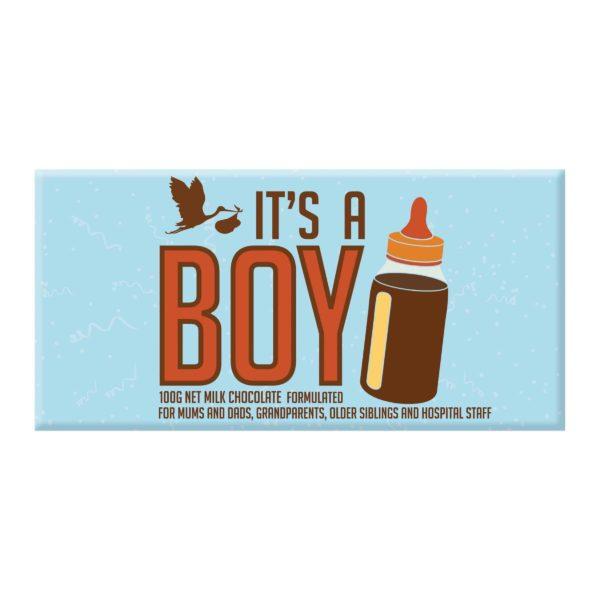 it's a boy novelty chocolate block gift