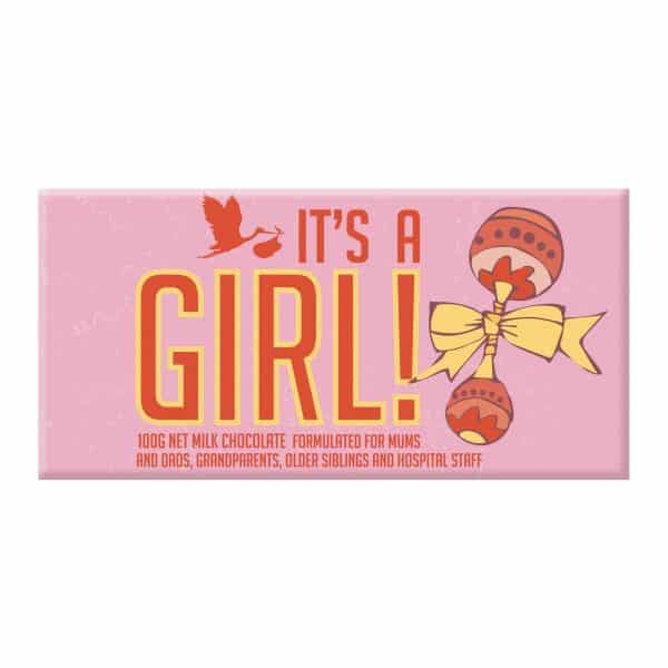 it's a girl novelty chocolate block gift
