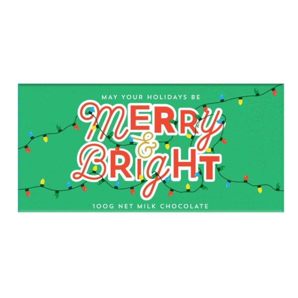 happy holidays gift chocolate